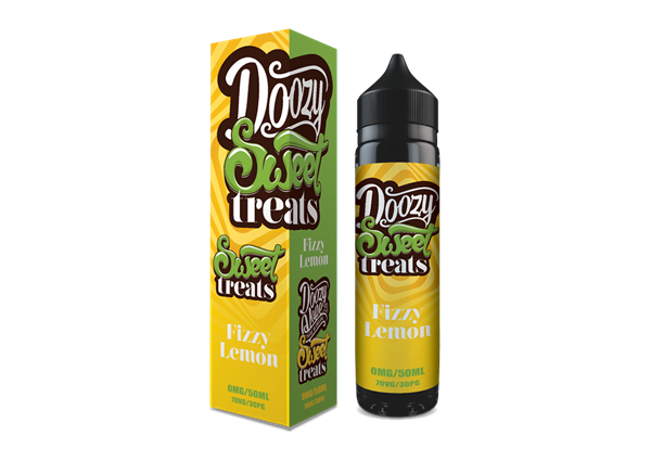 Fizzy Lemon Doozy Sweet Treats 50ml Shortfill & Box Large
