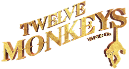 12 Monkeys Logo - 3D Gold Web